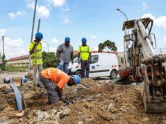 Réparation d'une canalisation à Saint-Laurent-du-Maroni